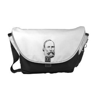 Giuseppe Garibaldi Realistic Sketch Messenger Bag