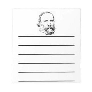 Giuseppe Garibaldi Realistic Sketch Notepad