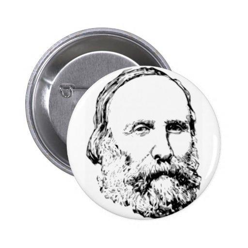 Giuseppe Garibaldi Realistic Sketch Pinback Button