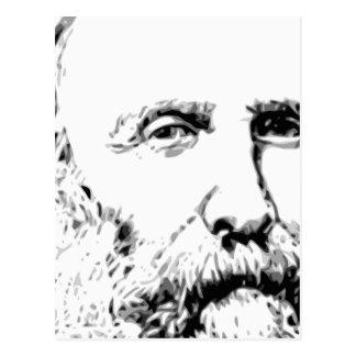Giuseppe Garibaldi Realistic Sketch Postcard