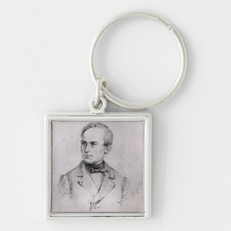 Giuseppe Mazzini (1805-72) 1830 (charcoal) (b/w ph Keychain
