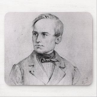 Giuseppe Mazzini (1805-72) 1830 (charcoal) (b/w ph Mouse Pad