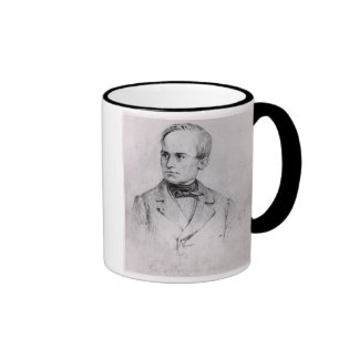 Giuseppe Mazzini (1805-72) 1830 (charcoal) (b/w ph Ringer Mug