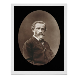 Giuseppe Verdi (1813-1901) from 'Galerie Contempor Poster