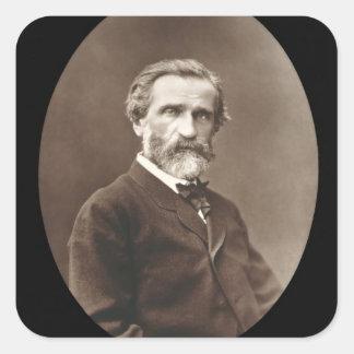 Giuseppe Verdi (1813-1901) from 'Galerie Contempor Square Sticker