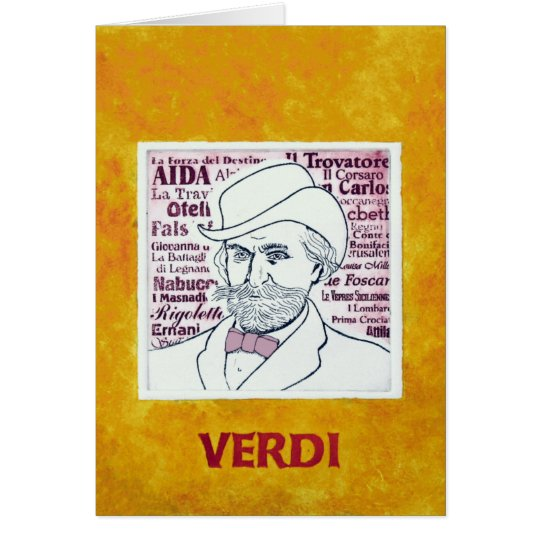 Giuseppe VERDI - greetings card