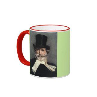Giuseppe Verdi, Opera Composer Ringer Coffee Mug
