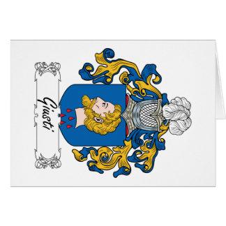 Giusti Family Crest Card