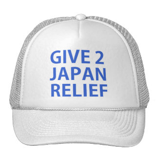 give 2 japan relief trucker hat