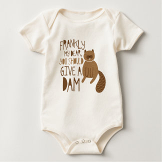 """""""Give a Dam"""" Beaver Baby Creeper"""
