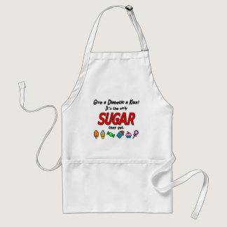 Give a Diabetic a Kiss Adult Apron