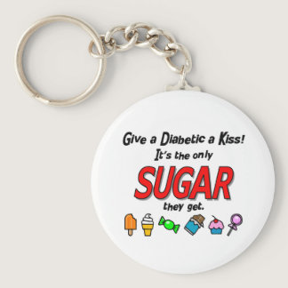 Give a Diabetic a Kiss Keychain