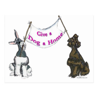 Give a Dog A Home Post Cards