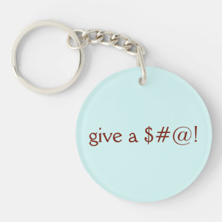 Give a $#@!, Go Vegan Keychain