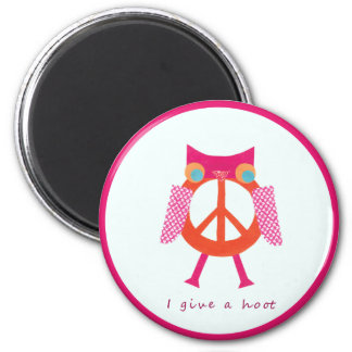 Give A Hoot! 2 Inch Round Magnet
