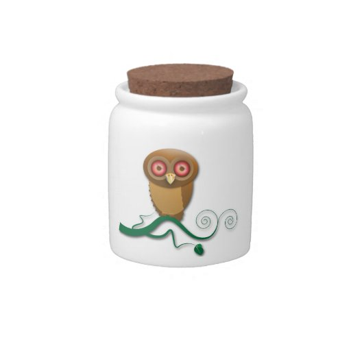 Give a Hoot Candy Jar