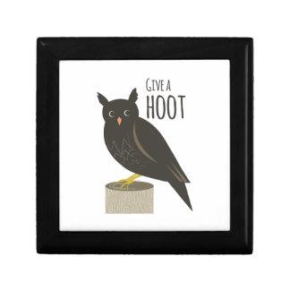 Give a Hoot Trinket Box