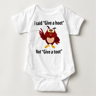 Give a HOOT, not a TOOT!! Baby Bodysuit