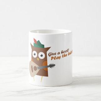 Give a hoot! Play the lute Coffee Mug