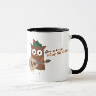 Give a hoot! Play the lute Mug