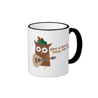 Give a hoot! Play the lute Ringer Mug