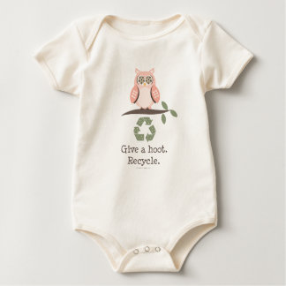 Give A Hoot Recycle Baby Organic Bodysuit