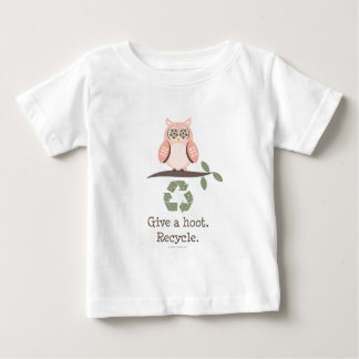 Give A Hoot Recycle Baby T shirt