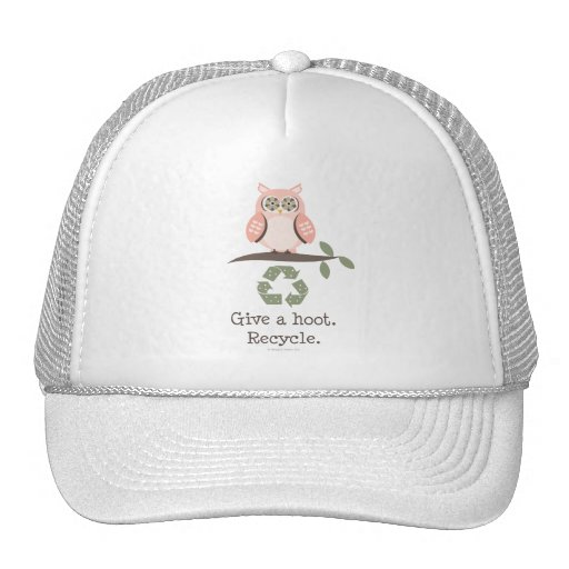 Give A Hoot Recycle Hat