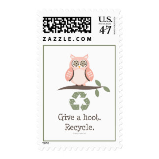 Give A Hoot Recycle Stamps