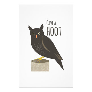 Give a Hoot Stationery Paper