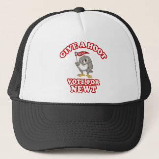 Give A Hoot Vote For Newt Trucker Hat
