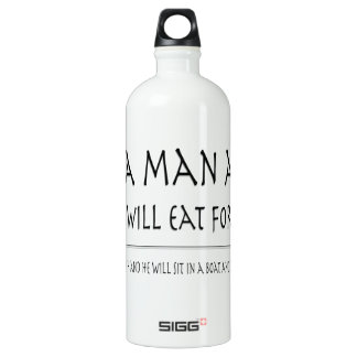 Give a Man a Fish Aluminum Water Bottle