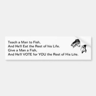 Give a Man a Fish Bumper Sticker