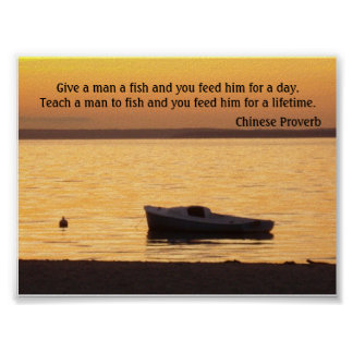 Give a man a fish Poster