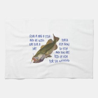 GIVE A MAN A FISH TOWEL