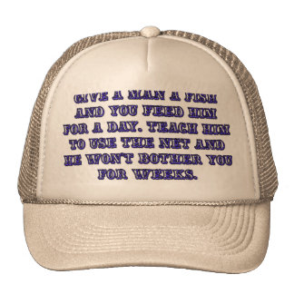 Give a man a fish trucker hat