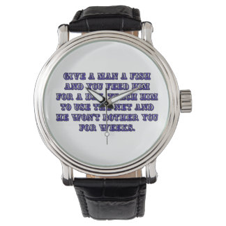 Give a man a fish wrist watches