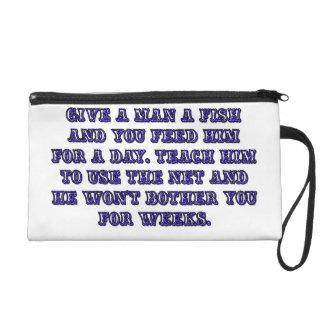 Give a man a fish wristlet