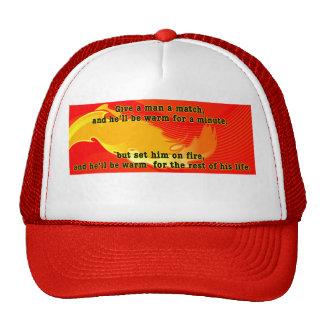 give a man a match trucker hat