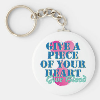 Give a piece of your heart - Give blood Keychain