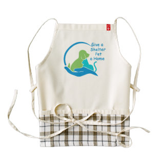give a shelter pet a home zazzle HEART apron