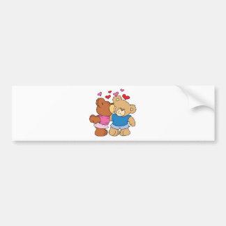 give a smooch kiss valentine teddy bears design bumper sticker