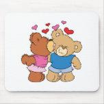 give a smooch kiss valentine teddy bears design mouse pad