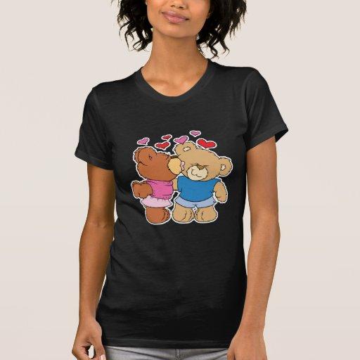 give a smooch kiss valentine teddy bears design tshirts