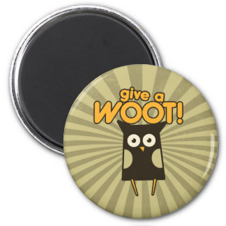 Give a Woot Hoot Owl 2 Inch Round Magnet