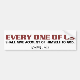 Give Account (white) Bumper Sticker