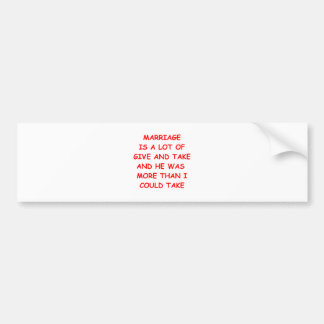 give and take car bumper sticker