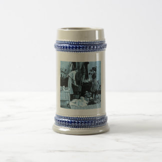 Give Baby Her Bottle at 6 Vintage Stereoview 18 Oz Beer Stein