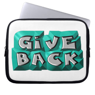Give Back Computer Sleeve
