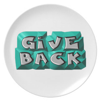 Give Back Dinner Plate